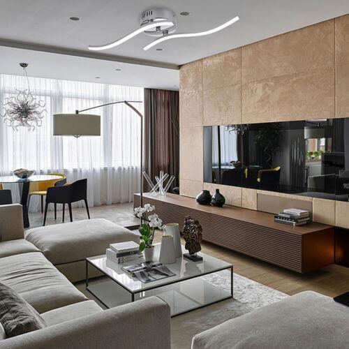 LED Design Deckenleuchte Bade Wohnzimmer Deckenlampe Acrylweiß Aluoptik modern