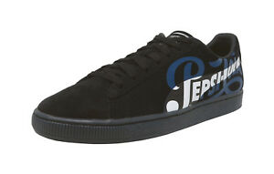 PUMA 50 Suede Classic X Pepsi Black Blue White Lace Up Fashion ... 13dbc15bc
