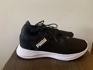 Wome's Puma Black White Sole Soft Foam+