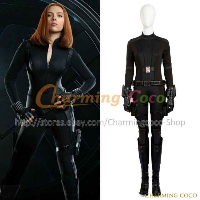 Captain America 3 Civil War Black Widow Cosplay Costume Jumpsuit Women Uniform