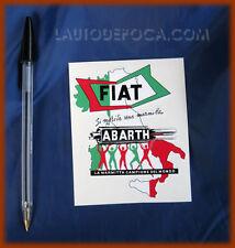 ADESIVO MARMITTE ABARTH - FIAT 500 600 850 1000