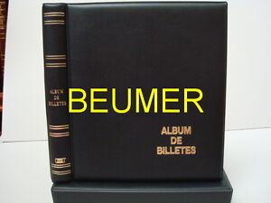 Album BILLETES con Cajetín,color NEGRO.Tamaño 27x33cm.Incluye 10 Hojas 4D