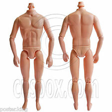"Naked Nude Raw Body Custom Muscular Men Male 1/6 Scale Action Figure 12"" Dolls"