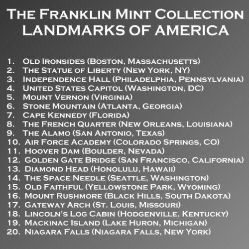 GATEWAY ARCH Landmarks Of America BRONZE Medal FRANKLIN MINT