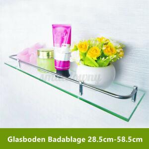 Badablage Glasregal Glasboden Glasablage Wandregal Duschregal Bad Regal