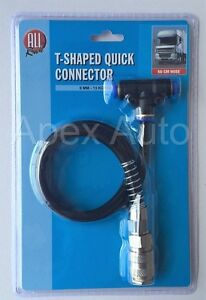 Truck-HGV-Lorry-Compressed-Air-Line-T-Shaped-Quick-Connector-Extension-6mm-Hose