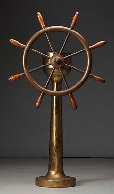 Circa 1900 Antique Bronze Ship's Wheel. Lot 433