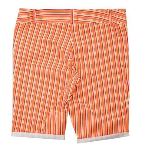 Le Ragazze Donna Taglia 18-24 Candy Stripe Aderente Vita Al Ginocchio Pantaloncini 2 Pocket