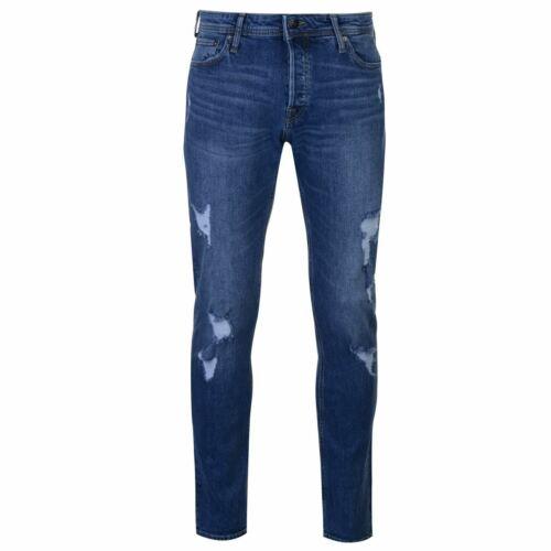Jeans Denim Jack And Jones Slim Fit Glenn Homme Pantalon Pantalon Mid Wash