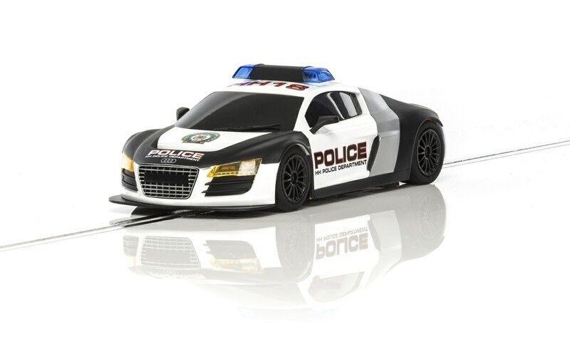 Scalextric Audi R8 Police Car (blau weiss) HD  | Haltbar