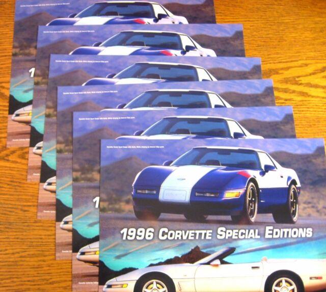 1996 Chevy Corvette Special Edition Brochure LOT (6) sgl Sheets Xlnt