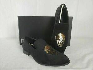 New-INC-Concepts-Men-Nova-Velvet-Slip-on-Fashion-Black-Loafers-Shoes-8-5-US
