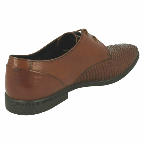 Details about  /MENS CLARKS LEATHER WOVEN DETAIL SMART FORMAL LACE UP SHOES SIZE BAMPTON WEAVE