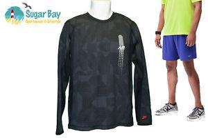 Nike-Air-VENTILADO-correr-Camisa-Algodon-Negro-XXL