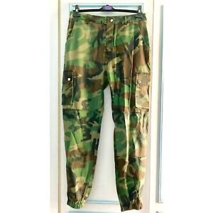 official 50-70%off 2019 discount sale Details about Missguided Womens Premium Khaki Camo Cargo Trousers Pants  Size 14