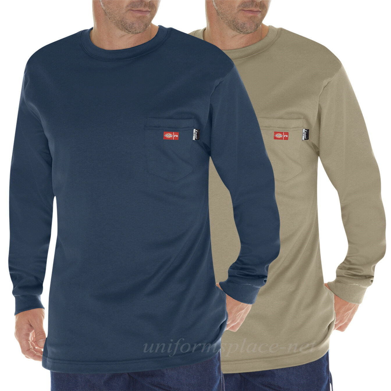Dickies T Shirt FR Mens Flame Resistant Long Sleeve Tee T Shirt DFL511