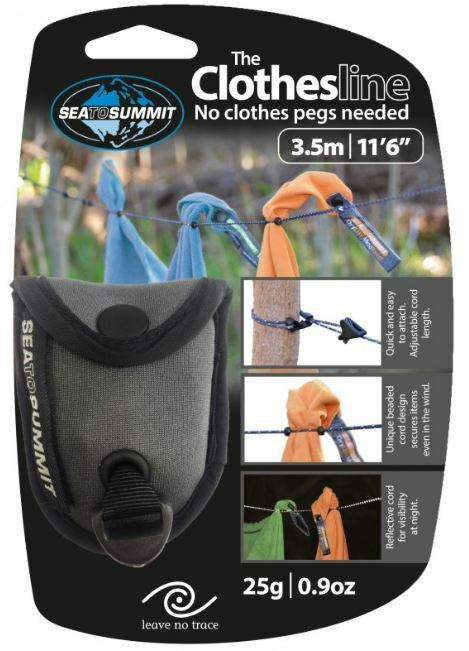 NEW SEA TO SUMMIT TRAVEL CLOTHESLINE POLYESTER CLOTHES HANGER CARRY POUCH CAMP