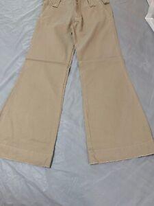 Vintage Pantalones Para Mujer Abercrombie And Fitch Caqui Talla 2 Nuevo Con Etiquetas Pantalones De Campana Ebay
