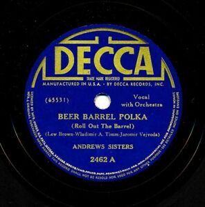ANDREWS-SISTERS-on-1939-Decca-2462-Beer-Barrel-Polka-Well-All-Right