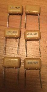 NOS Vintage ITT 0.022uF 22nF 400v PMT//2R  10mm Capacitors 8 x Pieces