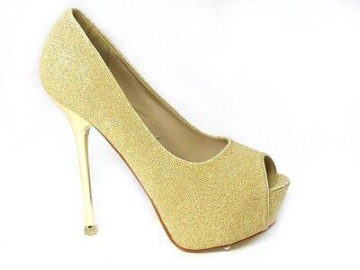 Señoras Diamante Zapatos Tenis Para Mujer Elegante Peep Toe De Tacones Wedding Bridal Talla 3-8