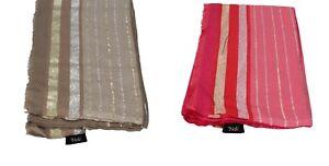 NALì accessori donna sciarpa stola foulard cotone beige rosa