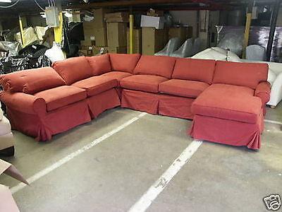 Pottery Barn Pb Basic Sofa Sectional Slipcover In Sierra
