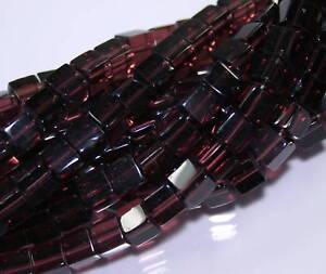 Beads-Perlen-Glasperlen-Strang-WURFEL-6-mm-56-Stueck-Schmuck-basteln