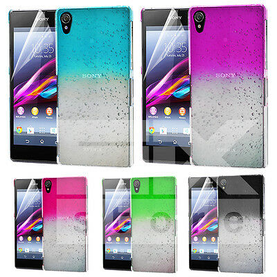 3D Rain Drop Design Hard Back Case Cover For Sony Xperia Z2 + Film
