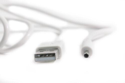 90 cm USB Cavo di alimentazione caricabatterie bianco per Yarvik Zania TAB462 TAB-462 Tablet PC