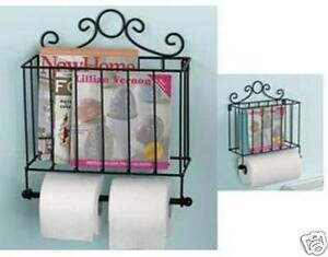 Image Is Loading Metal Toilet Roll Tower Paper Holder Magazine Rack