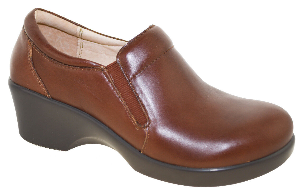 Alegria Eryn ERY-660 Comfort Wedge Schuhes Sz 38 (8-8.5) Chestnut Leder NEU 135