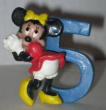 """Minnie Mouse 5 Year Old Birthday Cake Topper 2 1/8"""""""