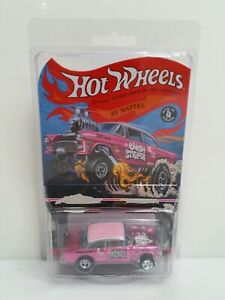 Rare-Authentic-Hot-Wheels-RLC-55-Chevy-Bel-Air-Gasser-Candy-Striper-Pink-1702
