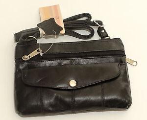 Small-Soft-Leather-Adjustable-Shoulder-Organiser-Bag-Black-Red-Brown-Zip-Button
