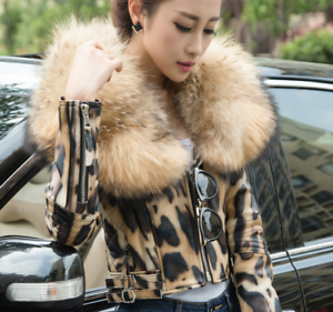 Short Winter Big Fur Luxury Warm Coat Down Womens Real Jacket Leather Collar XwBSwqgv