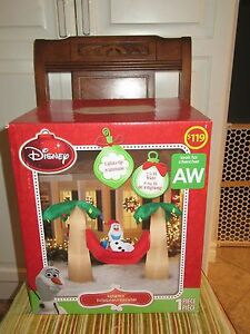 """FROZEN'S """"OLAF CHRISTMAS"""" IN PALM TREES - """"NEW"""" DISNEY - $89.99 SALE"""