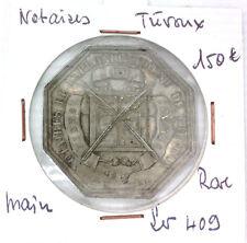 JETON NOTAIRES - TREVOUX - RARE - POINÇON MAIN - LEROUGE 409