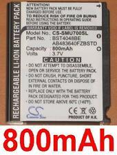 Batterie 800mAh type AB483640FZBSTD  Pour Samsung GT-M8910 Pixon 12
