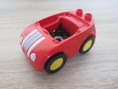 MIT STREIFEN  @ NEU LEGO DUPLO 10835 10844  AUTO CABRIO ROT FAHRZEUG 2-tlg