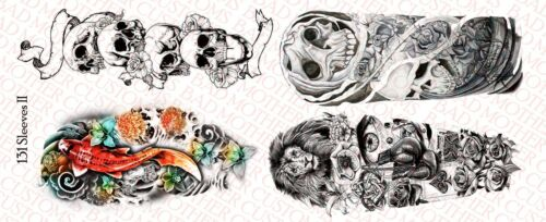1//6 Scale Custom Tattoos pour figurines manches II-Waterslide Decals