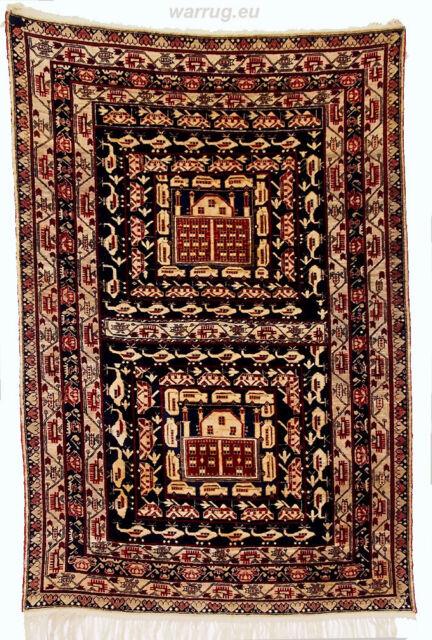 142x95 cm old original Afghan War rug Kriegteppich Afghanistan orientteppich N16