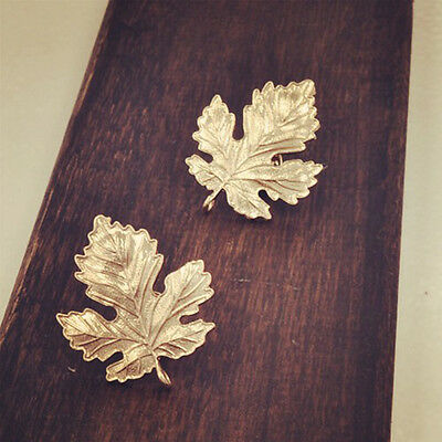 Women Man Fashion Clothes Accessories Leaf Brooch Pins Chic Vintage Brooches 3CF