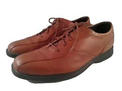 rockport mens brown soft leather casual dress shoes size