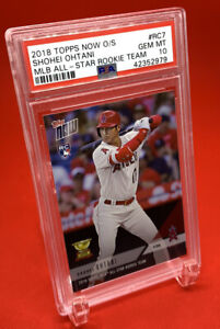 Shohei Ohtani Rookie-2018 Topps Now-RC All-Star Rookie #RC7 -Gem Mint PSA 10