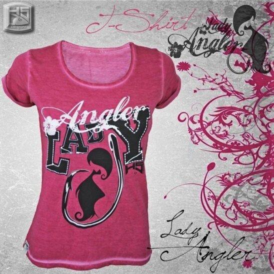 Hotspot Design Kollektion T-Shirt Lady Angler pink Angelshirt - Made  for Girls  support wholesale retail