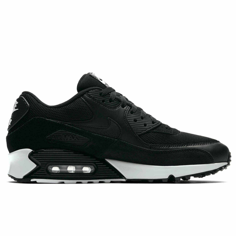 Original Nike Air Max 90 Essential Black White Trainers Shoes 537384 077