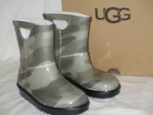c82357aef2a Details about NEW IN BOX KIDS TODDLER SIZE 7 UGG RAHJEE SLATE CAMO RUBBER  RAIN BOOTS 1019101T