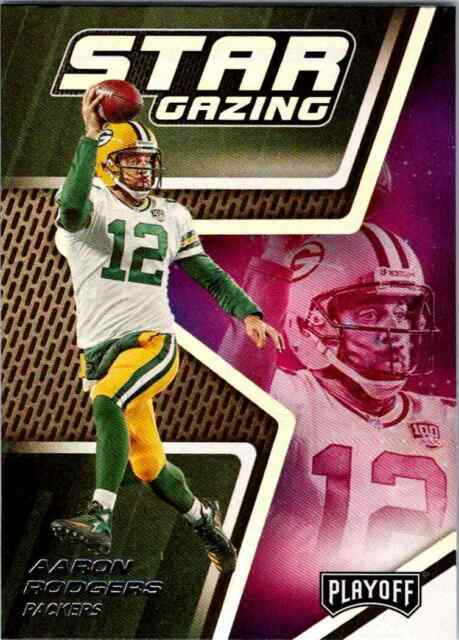 2019 Panini Playoff Star Gazing Aaron Rodgers Green Bay Packers #11 Insert