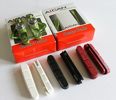 Aican Ultra light Road Bike Bicycle brake pads shoes catridge for Shimano Black
